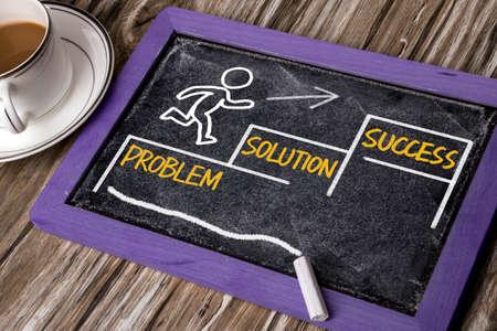 metas: concepto de negocio: el éxito solución problema