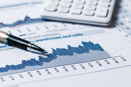 contabilidad: an�lisis de la contabilidad financiera Foto de archivo