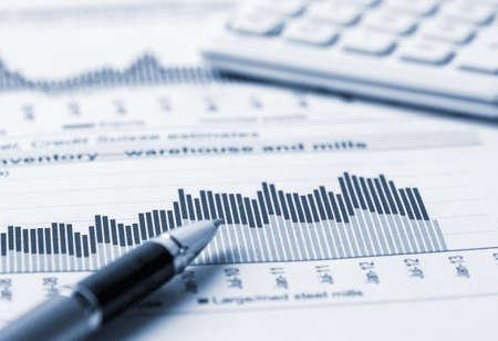 l'analyse de la comptabilité financière Banque d'images