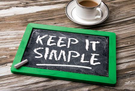 coherent: keep it simple on blackboard