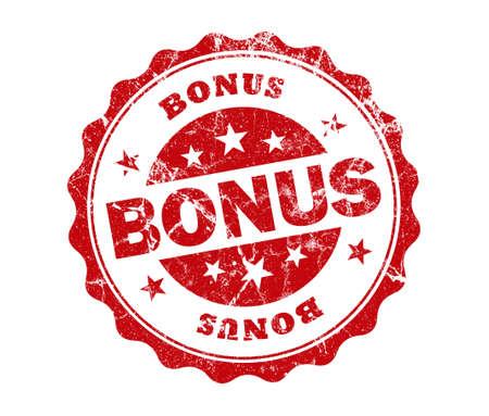 bonus de timbre sur fond blanc