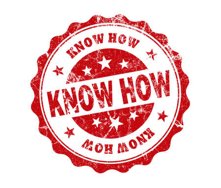 know how: know how stamp on white background