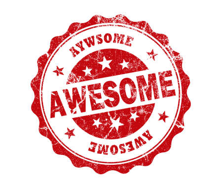 compliment: awesome stamp on white background