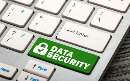 security: data security concept on keyboard