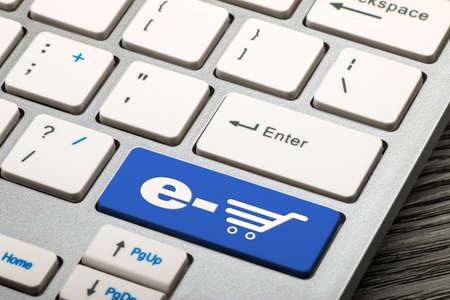 e shop: e shop concept on keyboard