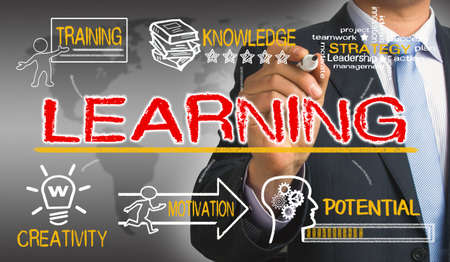 concept de l'apprentissage avec des éléments d'éducation