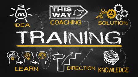 concept de formation avec des éléments d'éducation
