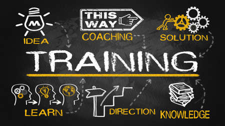 leadership training: training concept with education elements
