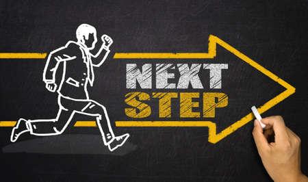 running businessman; next step