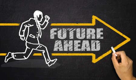 and future vision: concepto futuro por delante Foto de archivo