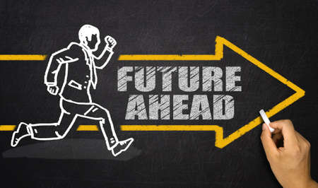 future business: future ahead concept