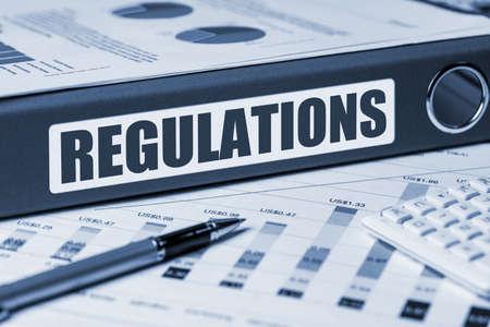 regulation: regulation concept on document folder