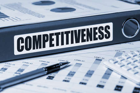 competitiveness: competitiveness concept on document folder Stock Photo