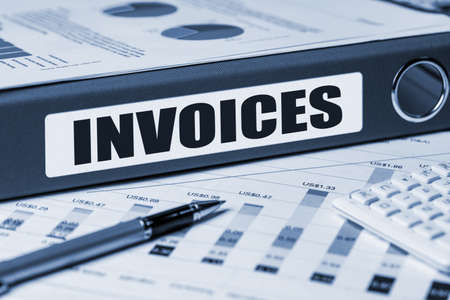 invoices: invoices concept on document folder