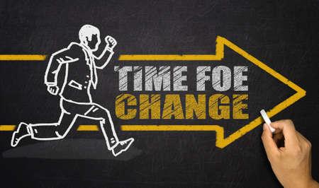 time for change concept Banque d'images