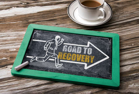 road to recovery: road to recovery concept