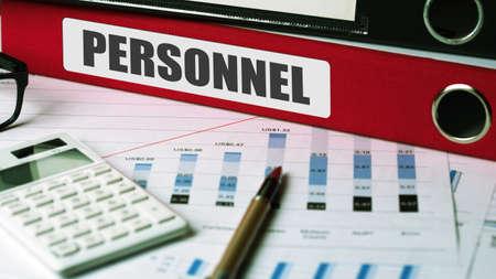 personnel: personnel concept on document folder Stock Photo