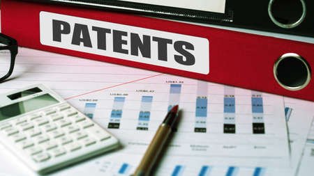 patents: patents concept on document folder