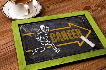 career: career development concept on chalkboard