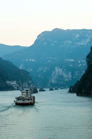 yichang: sailing on the yangtze river -three gorges area, Yichang, China