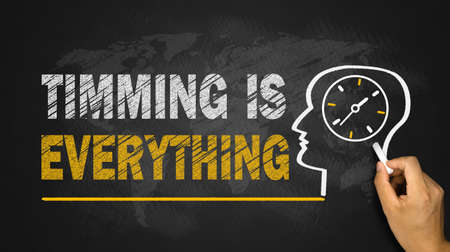 timing is everything concept on blackboard