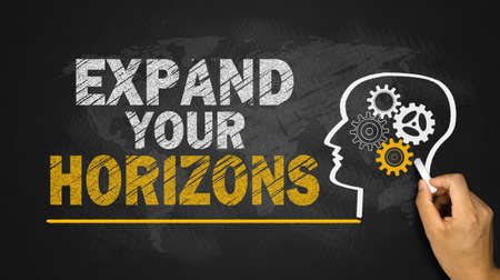 expand: expand your horizons concept on blackboard