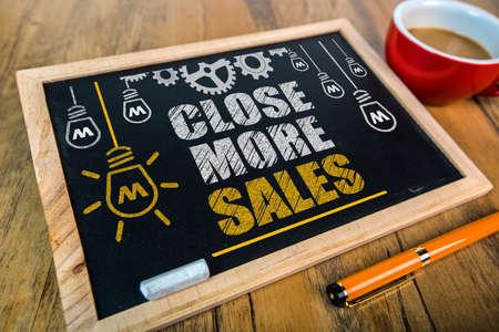 Close More Sales on blackboard Stock fotó