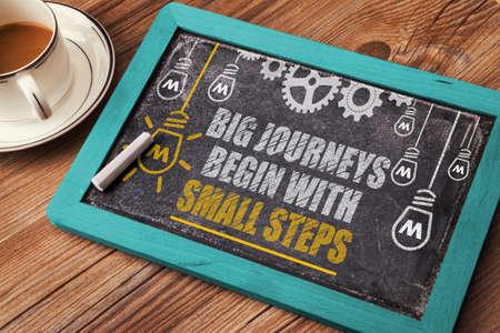 empezar: gran viaje comienza con pequeños pasos Foto de archivo