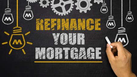 refinance: refinance your mortgage on blackboard