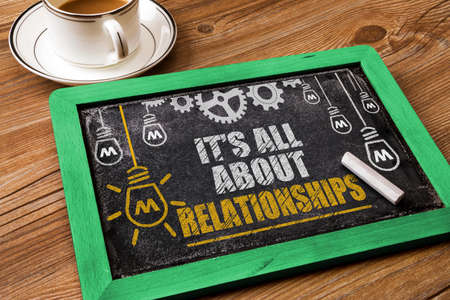 relation: Its All About Relationships Stock Photo