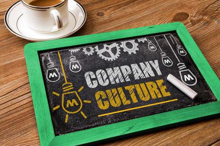 Concepto de la compañía Cultura en la pizarra