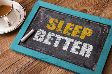 dream body: sleep better on small blackboard