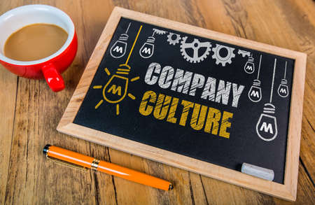 Company Culture concept on blackboard Stock Photo