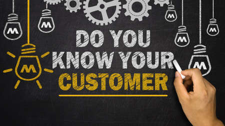 do you know your customer Stock Photo