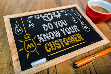 know: do you know your customer Stock Photo