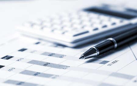financiële analyse-concept