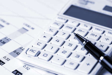 financial market: financial analysis concept