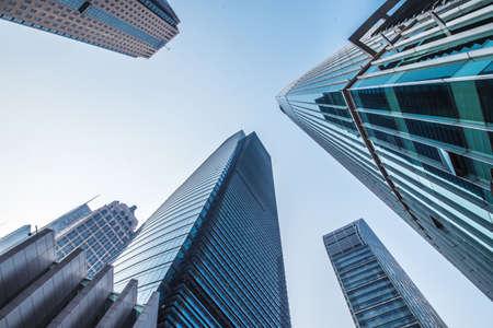 bâtiments modernes, shanghai, china