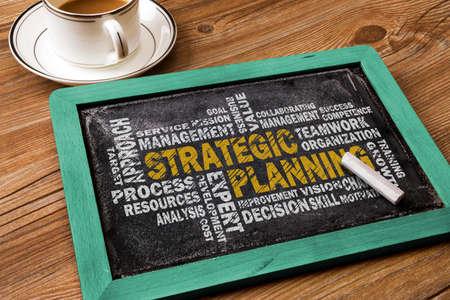 planificacion estrategica: estratégica palabra planificación de la nube en la pizarra