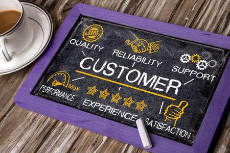 Concept de client avec des éléments d'affaires
