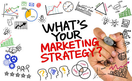 target marketing: whats your marketing strategy handwritten on whiteboard