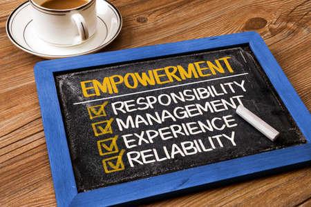 empowerment: empowerment concept: responsibility management experience reliability