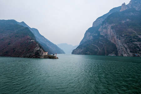 yangtze: sailing on the yangtze river -three gorges area, Yichang, China