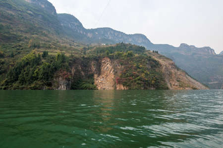 yangtze: the wu gorge scenic spot of three gorges at the yangtze river, near Badong, Hubei, China