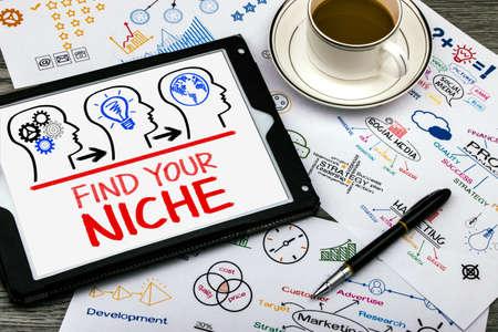 encontrar su nicho concepto en el PC tableta