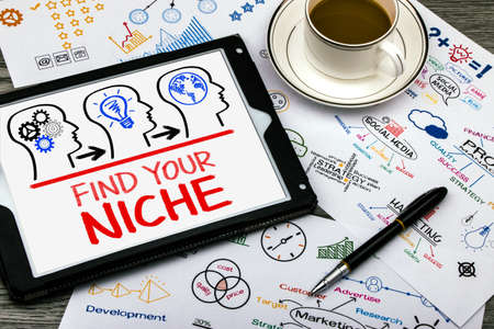 niche: find your niche concept on tablet pc