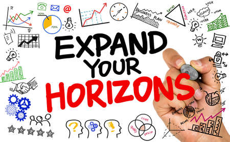 expand: expand your horizons Stock Photo