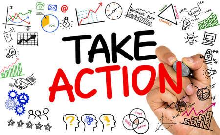 take action: take action Stock Photo