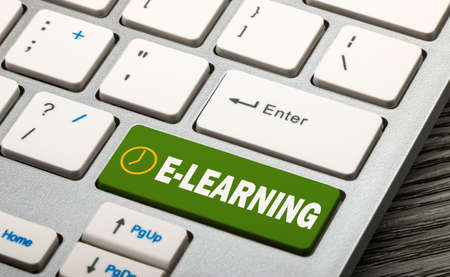 elearn: e learning concept on keyboard Stock Photo