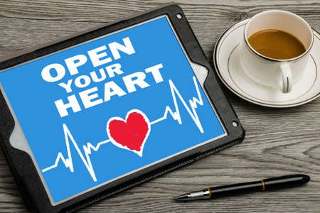open your heart: open your heart on touch screen background